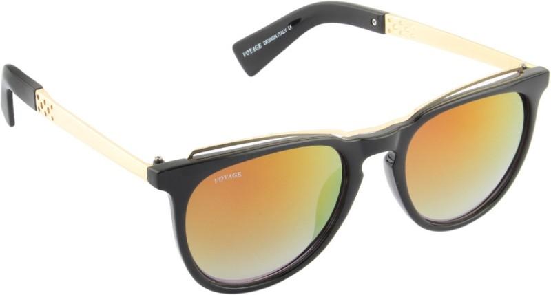 Voyage Round Sunglasses(Golden) image