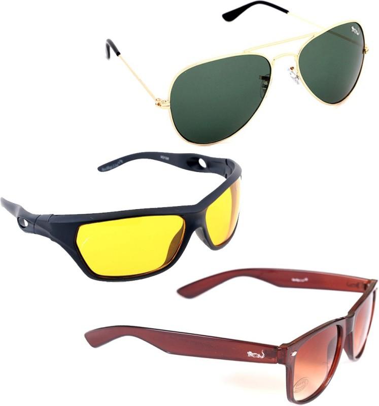 Elligator Aviator, Sports, Wayfarer Sunglasses(Multicolor)