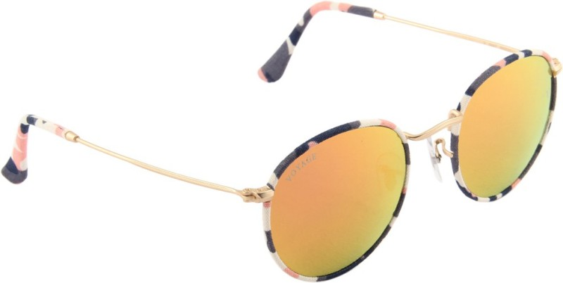 Voyage Round Sunglasses(Multicolor) image