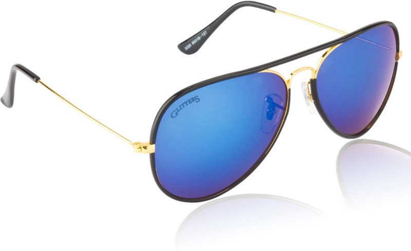 Glitters Aviator Sunglasses(Blue) image