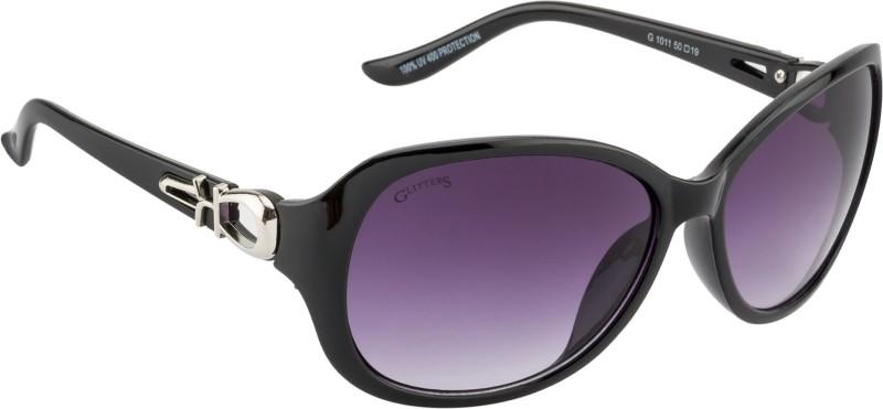 Glitters Rectangular Sunglasses(Black) image