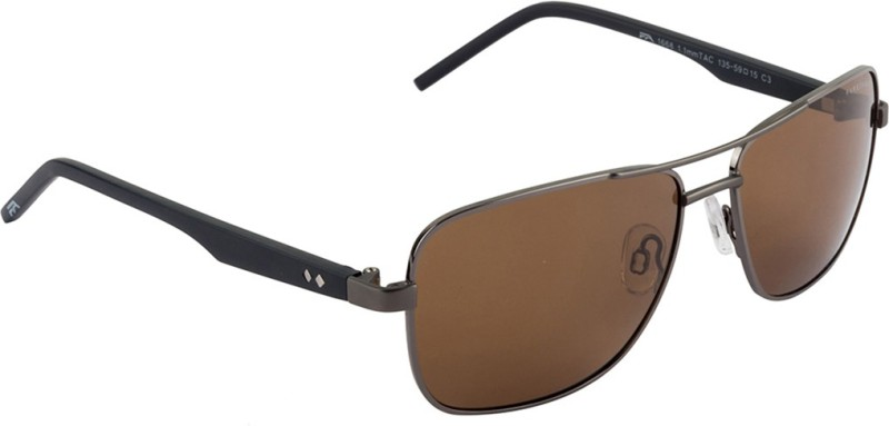 Farenheit Rectangular Sunglasses(Brown) image