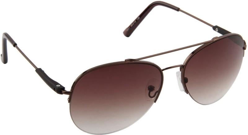 Voyage Aviator Sunglasses(Brown) image