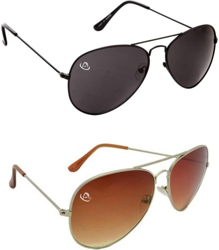 Aventus Aviator Sunglasses(Black, Red)