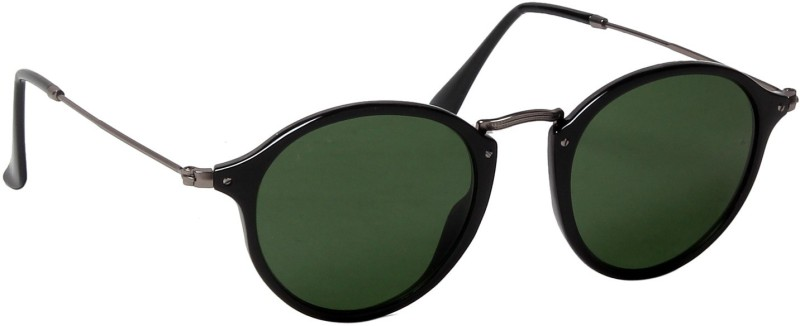 Ted Smith Round Sunglasses(Green) image