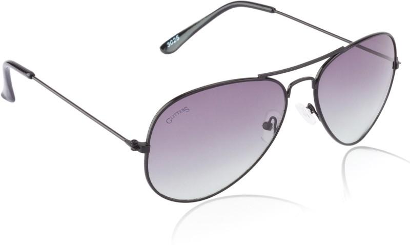 Glitters Aviator Sunglasses(Green) image