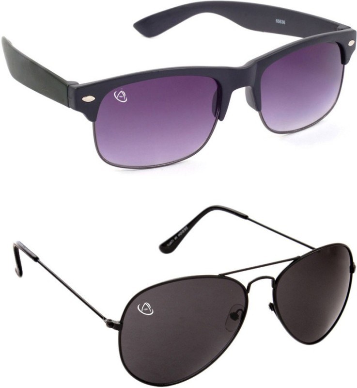 Aventus Wayfarer, Aviator Sunglasses(For Boys)