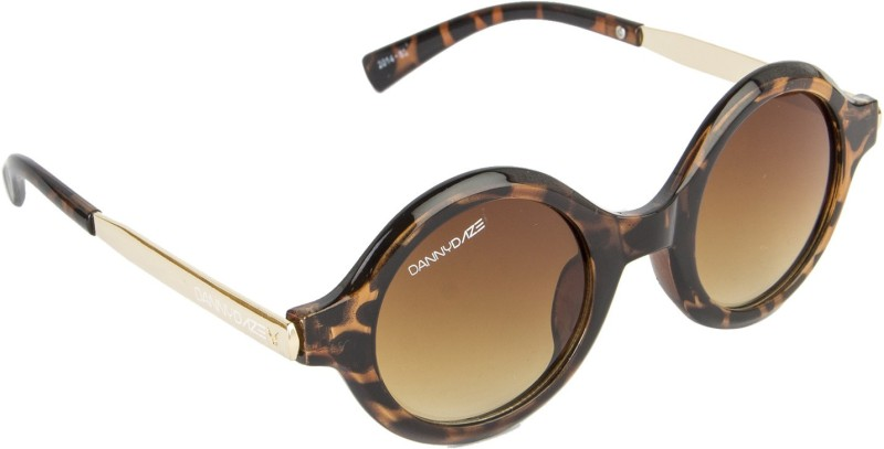 Danny Daze Round Sunglasses(Brown) image