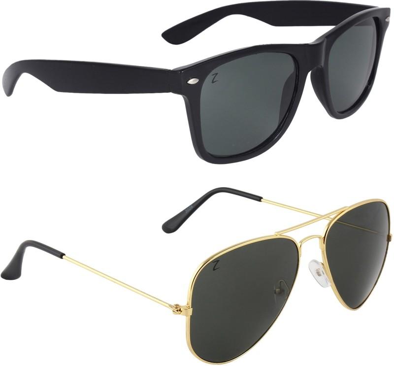 Zyaden Wayfarer, Aviator Sunglasses(Multicolor) image