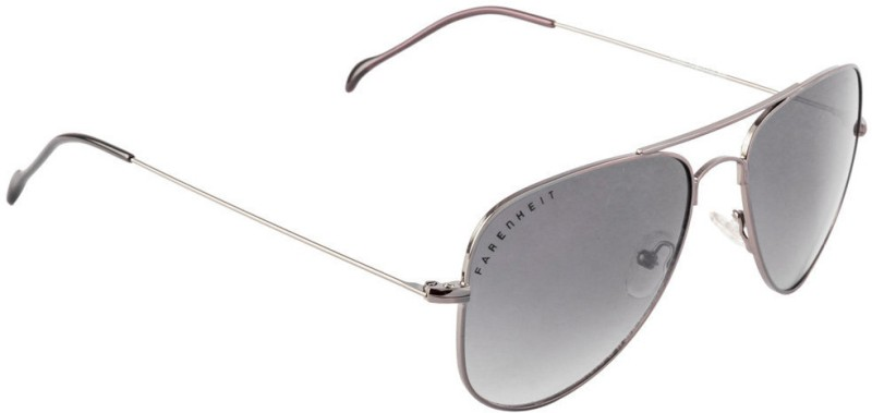Farenheit Aviator Sunglasses(Grey) image