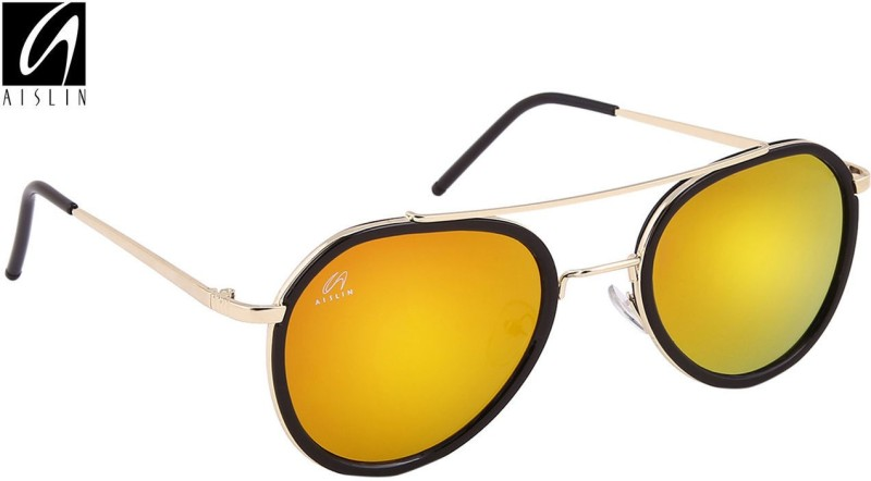 Aislin Aviator Sunglasses(Pink, Green) image