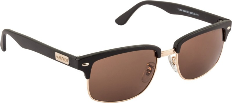 Farenheit Wayfarer Sunglasses(Brown) image