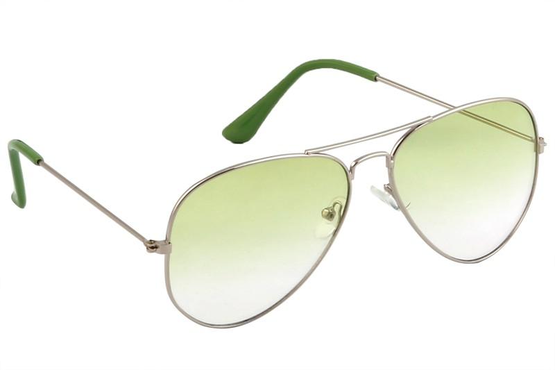 Feel Aviator Sunglasses(Green) image