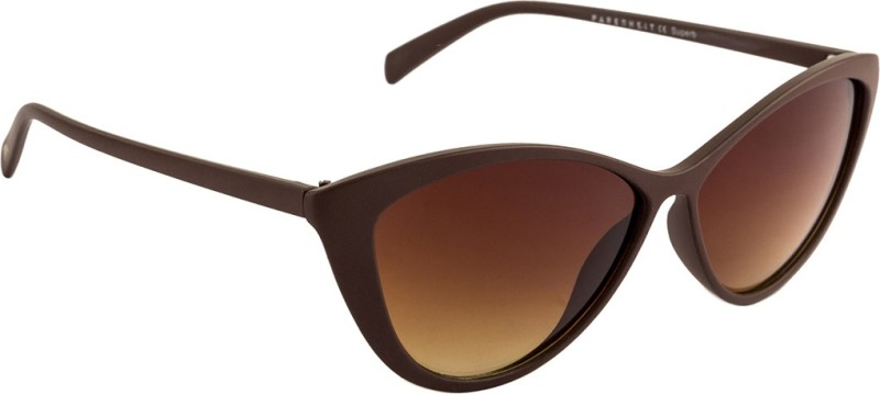 Farenheit Cat-eye Sunglasses(Brown) image