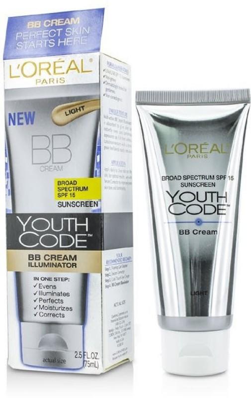 LOreal Paris Youth Code BB Cream Illuminator - SPF 15 PA+++(75 ml)