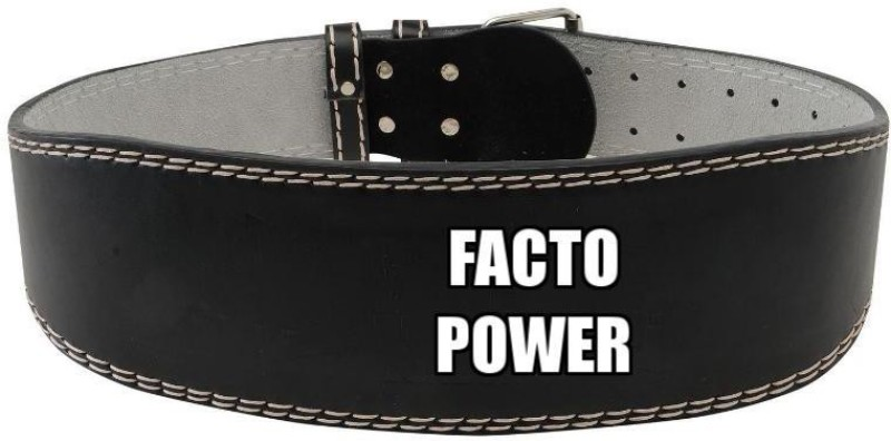 Facto Power WEIGHT LIFTING BELT IN P.U MATERIAL FOR HOME GYM Back Support (M, Black)