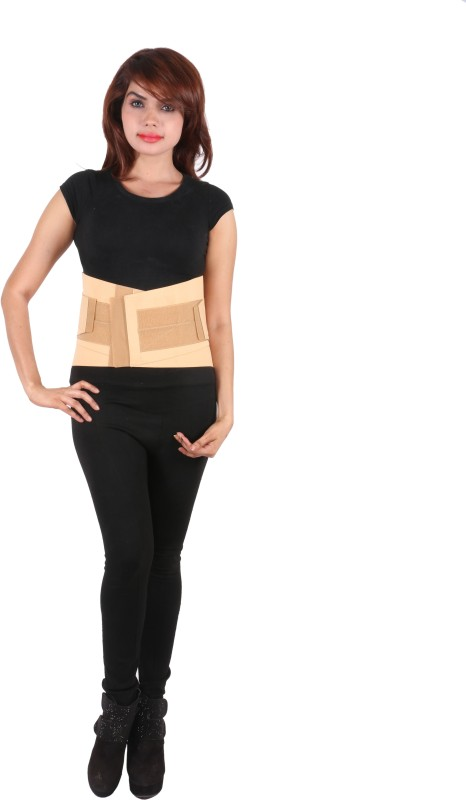 Orthosafe Contoured Lumbo Sacral Belt Back Support (XL, Beige)