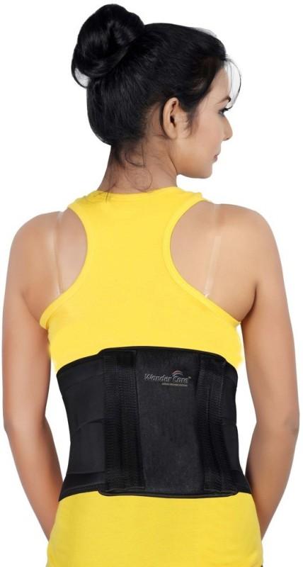 Wonder Care Black Contour Lumbar Spinal Belt(4 tempered steel bars) Back Support