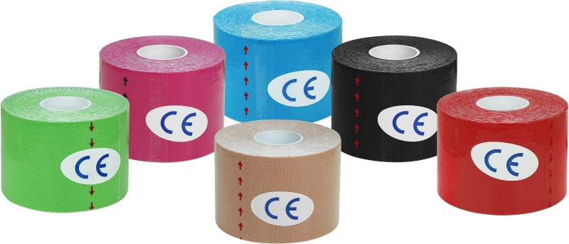 A-TAPE Kinesiology Tape (Pack of 6) Knee, Calf & Thigh Support