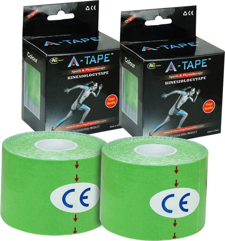 A-TAPE Kinesiology Tape (Pack of 2) Knee, Calf & Thigh Support