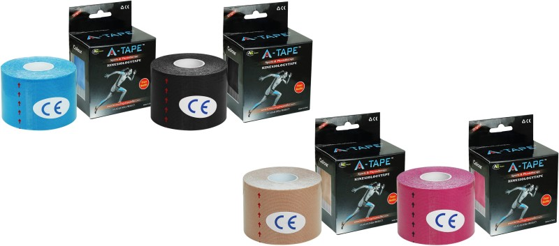 A-TAPE Kinesiology Tape (Pack of 4) Knee, Calf & Thigh Support