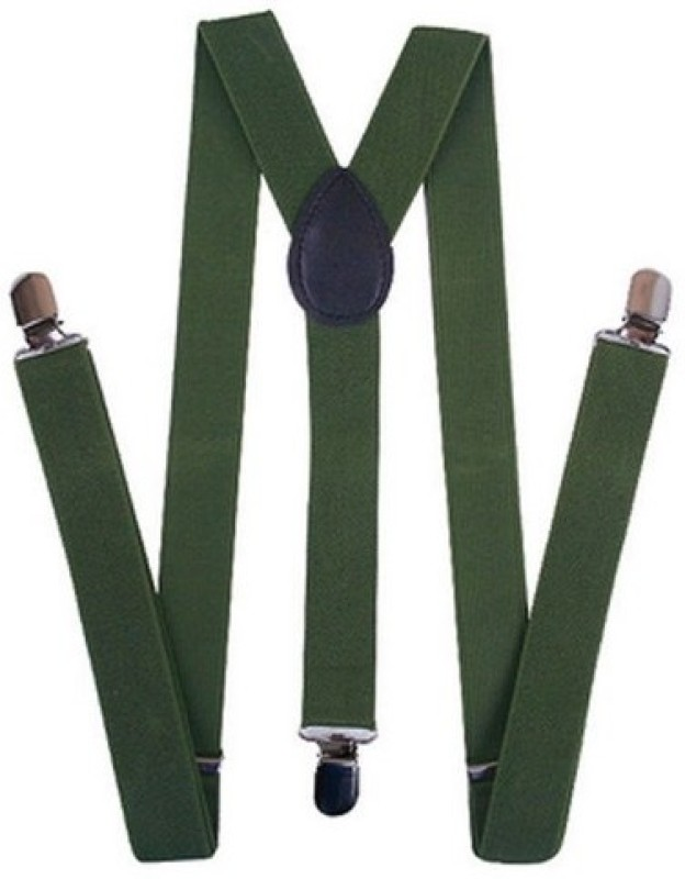 A&S Y- Back Suspenders for Men(Green)