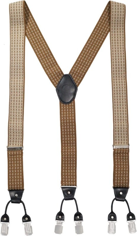 The Tie Hub Y- Back Suspenders for Men(Multicolor)