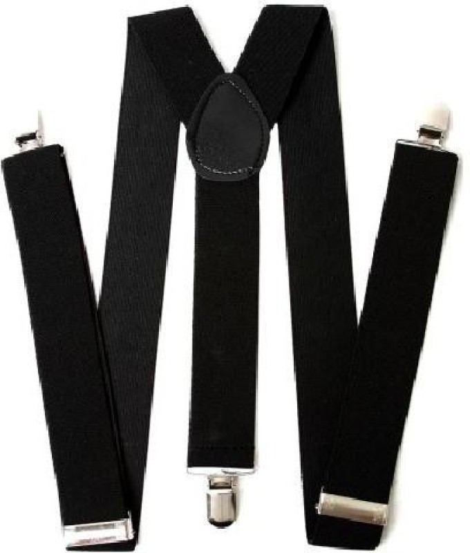 Homeshopeez Y- Back Suspenders for Men(Black)