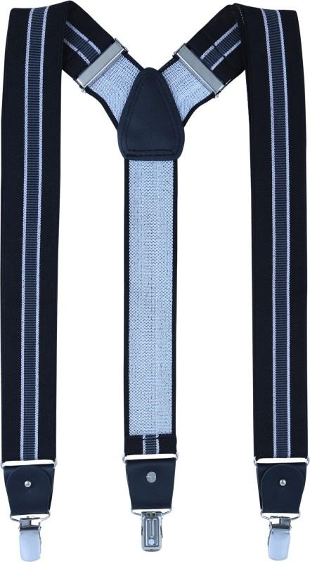 Alvaro Y- Back Suspenders for Men(Black, Grey)