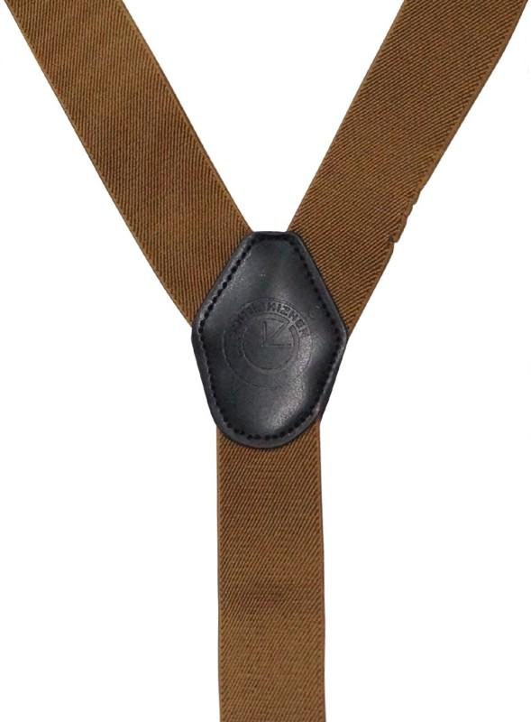 The Tie Hub Y- Back Suspenders for Men(Brown)