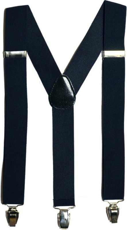 Urban Diseno Y- Back Suspenders for Men, Women(Blue)