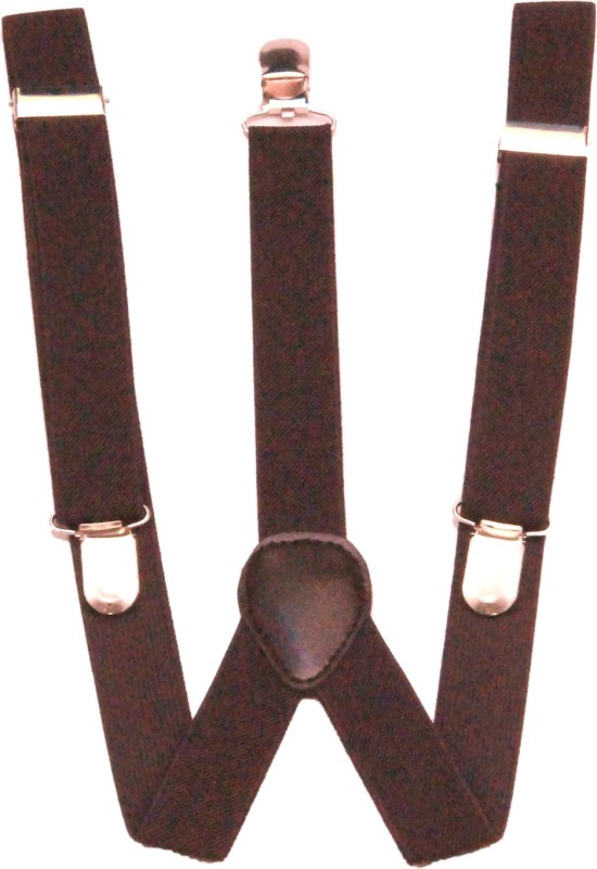 Homeshopeez Y- Back Suspenders for Men(Brown)