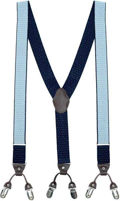 The Tie Hub Y- Back Suspenders for Men(Blue)