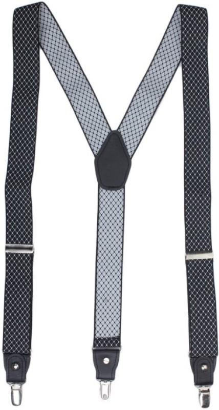 Alvaro Castagnino Y- Back Suspenders for Men(Black)