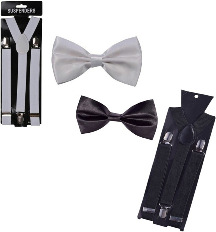 Mr. Willian Y- Back Suspenders for Men, Women(Black, White)