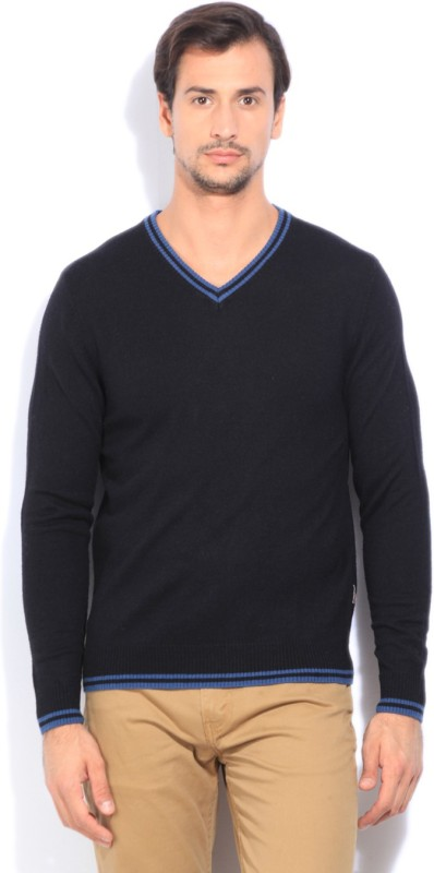 Flying Machine Casual Mens Black Sweater