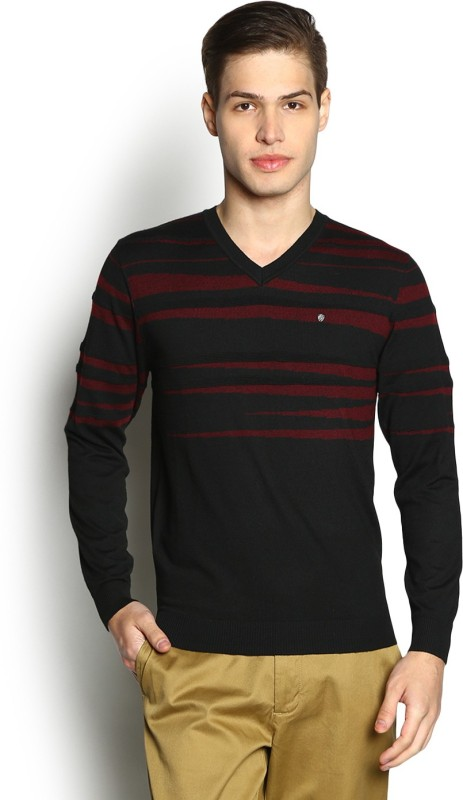 Blackberrys Self Design V-neck Casual Men Multicolor Sweater