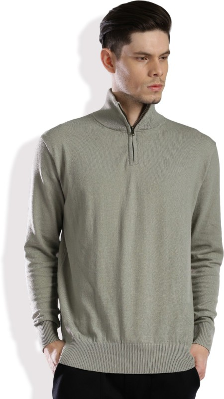HRX by Hrithik Roshan Self Design Turtle Neck Casual Men Grey Sweater