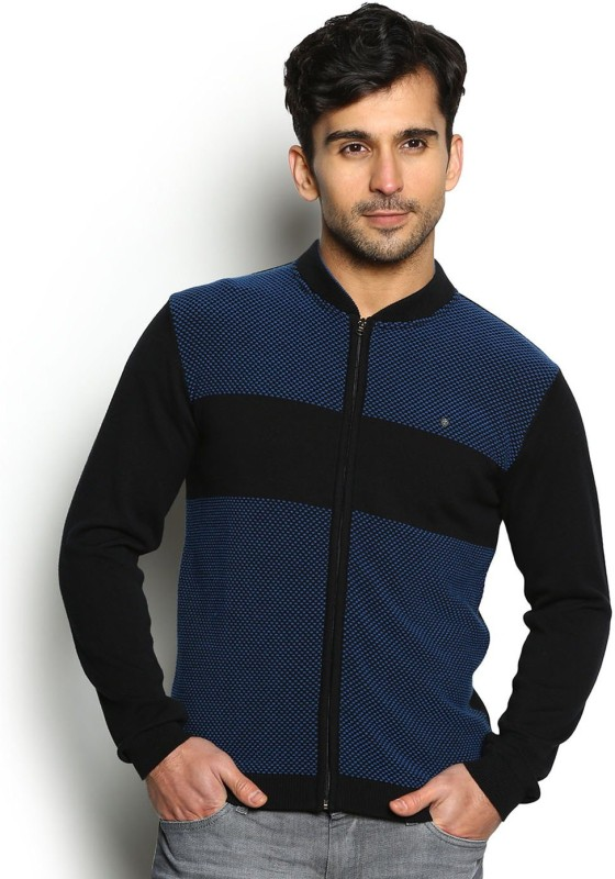 Blackberrys Self Design V-neck Party Men Multicolor Sweater