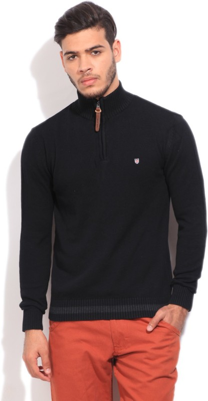Pepe Jeans Solid Casual Men Black Sweater
