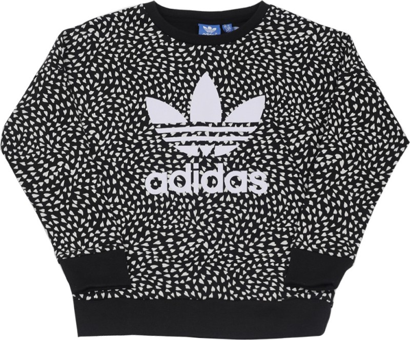 Adidas Full Sleeve Printed Girls Sweatshirt