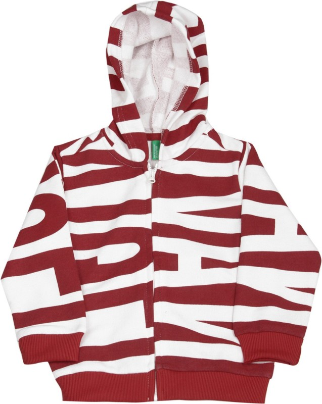 United Colors of Benetton Full Sleeve Striped Boys Sweatshirt
