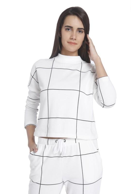 Vero Moda Full Sleeve Checkered Womens Sweatshirt