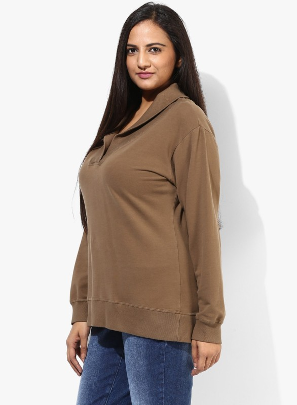 Grain Full Sleeve Solid Women's Sweatshirt