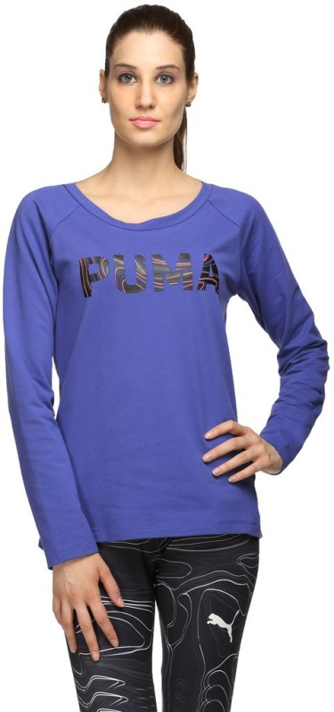 Puma Full Sleeve Solid Womens Sweatshirt