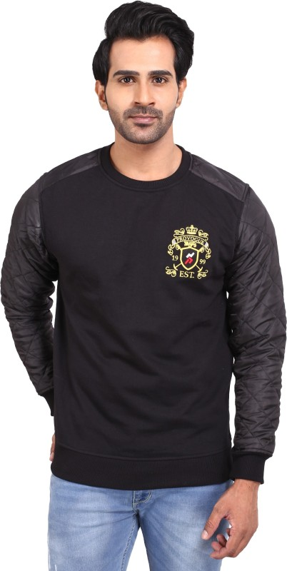 Provogue Full Sleeve Solid Mens Sweatshirt