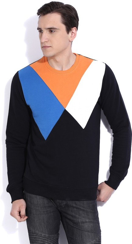 United Colors of Benetton Full Sleeve Solid Men's Sweatshirt