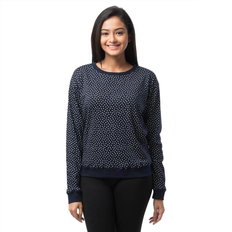 Nite Flite Full Sleeve Polka Print Women's Sweatshirt
