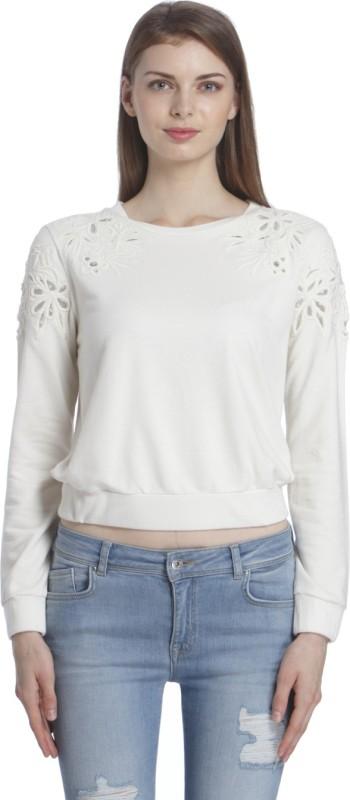 Only Full Sleeve Self Design Women's Sweatshirt