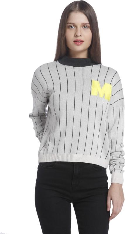 Vero Moda Full Sleeve Striped Womens Sweatshirt